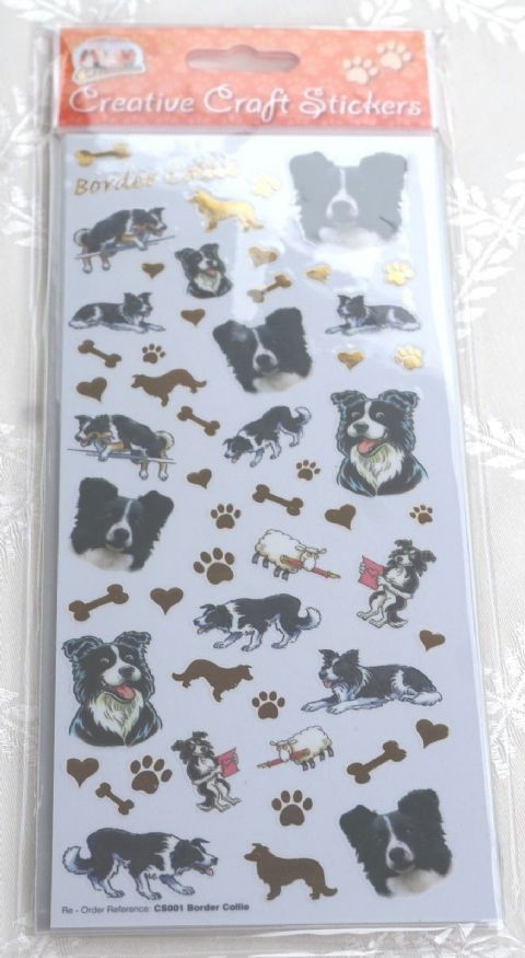 BORDER COLLIE - CRAFT STICKERS SCRAPBOOKING CARD CRAFT ETC